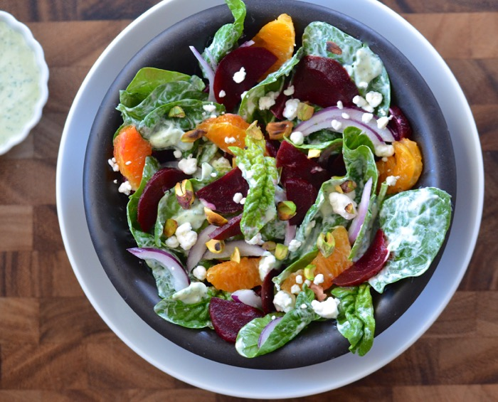 spinach beet salad - 115