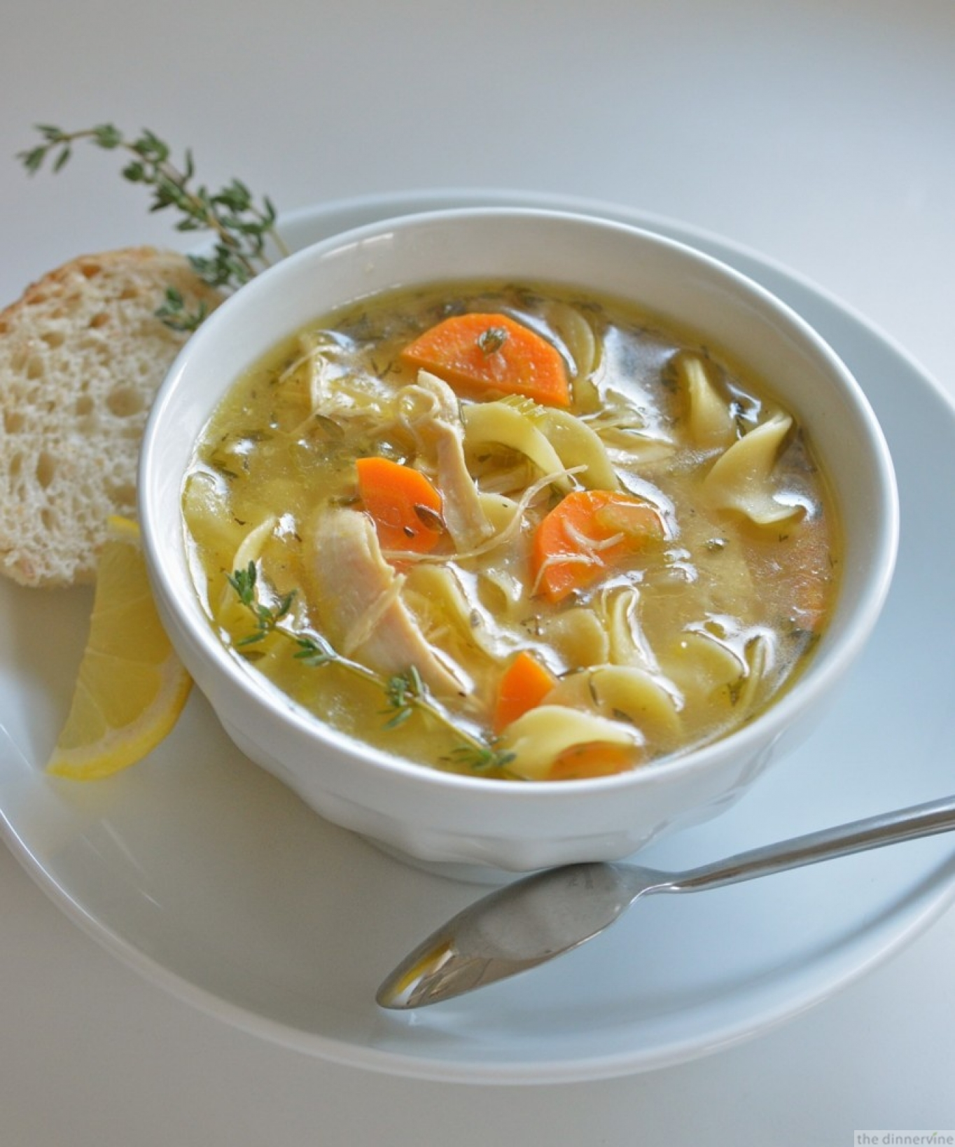 Not Your Grandma's Lemon-thyme-chicken Noodle » The Dinnervine