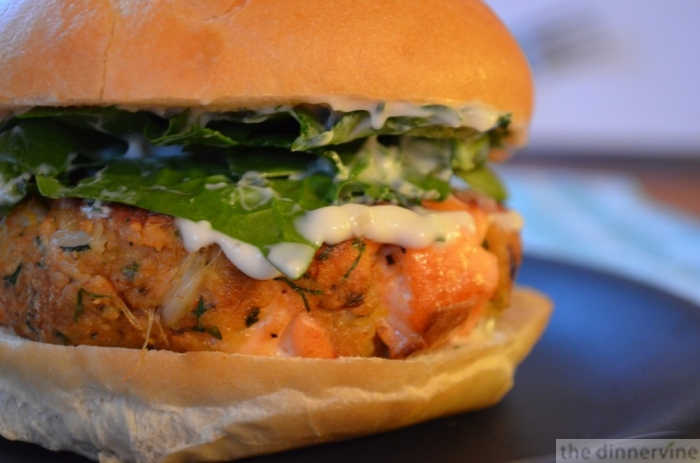 saving daylight salmon crab burgers » the dinnervine