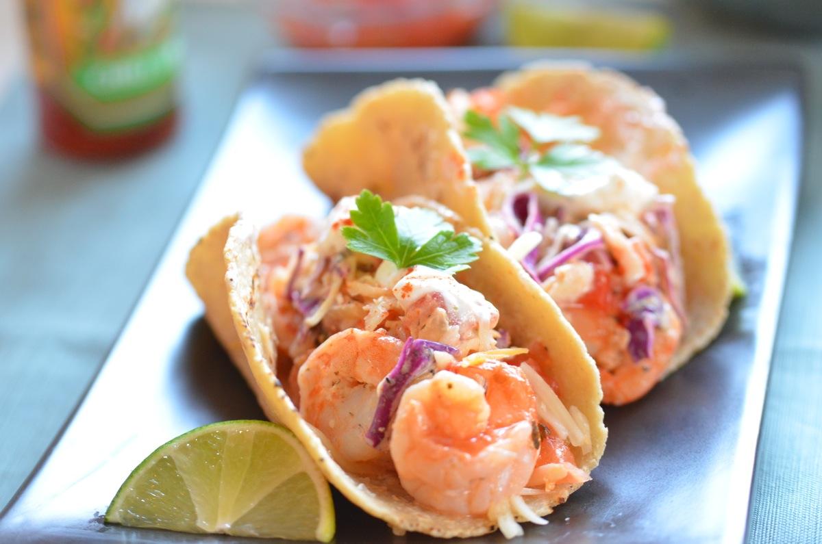 tacos camarones (shrimp tacos)