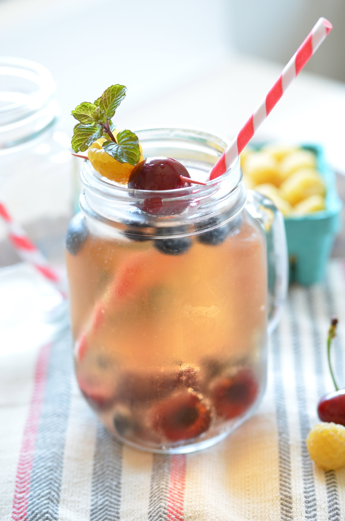 Champagne Cocktail with Summer Fruit