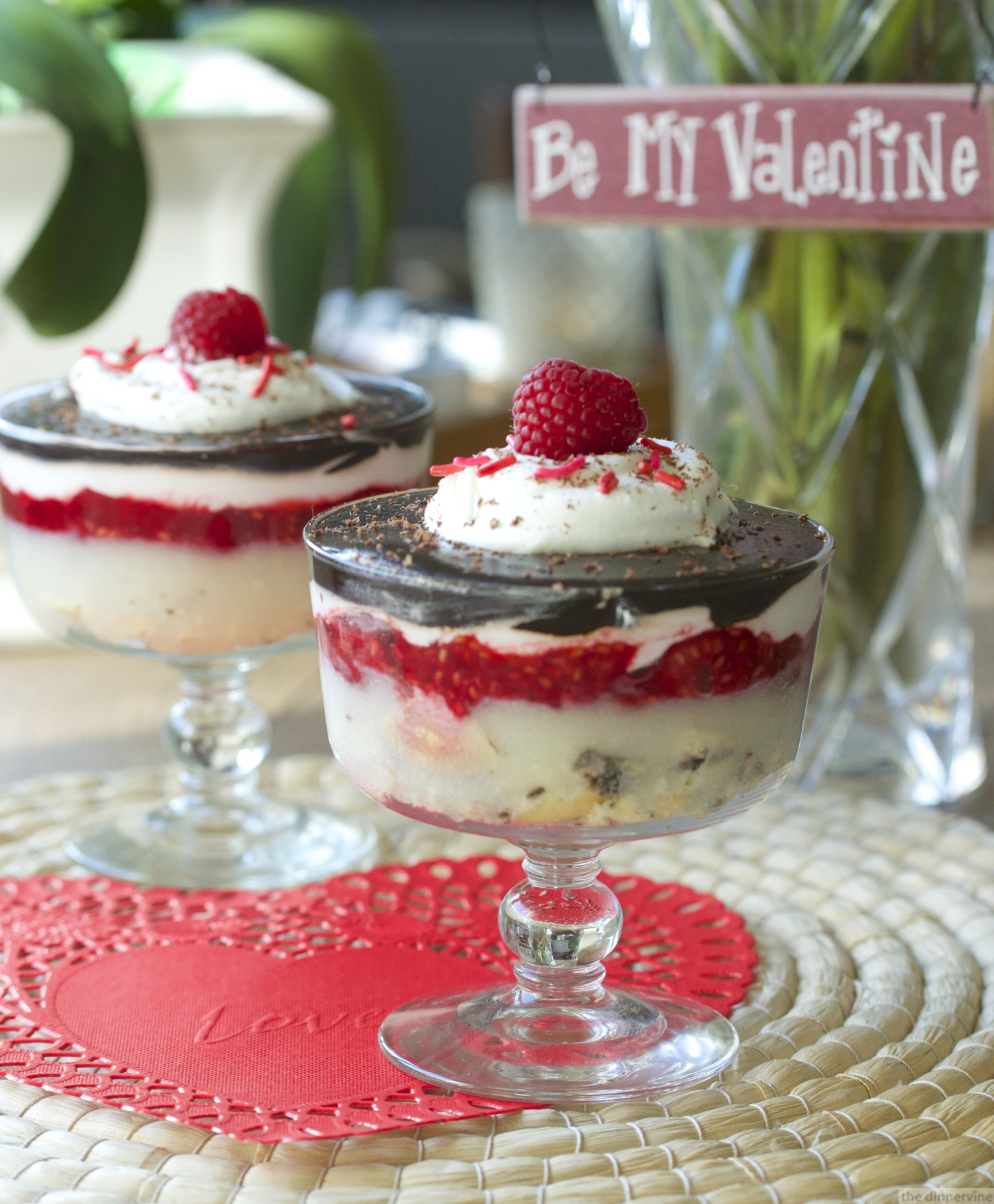 Pudding Parfaits (with Raspberries)