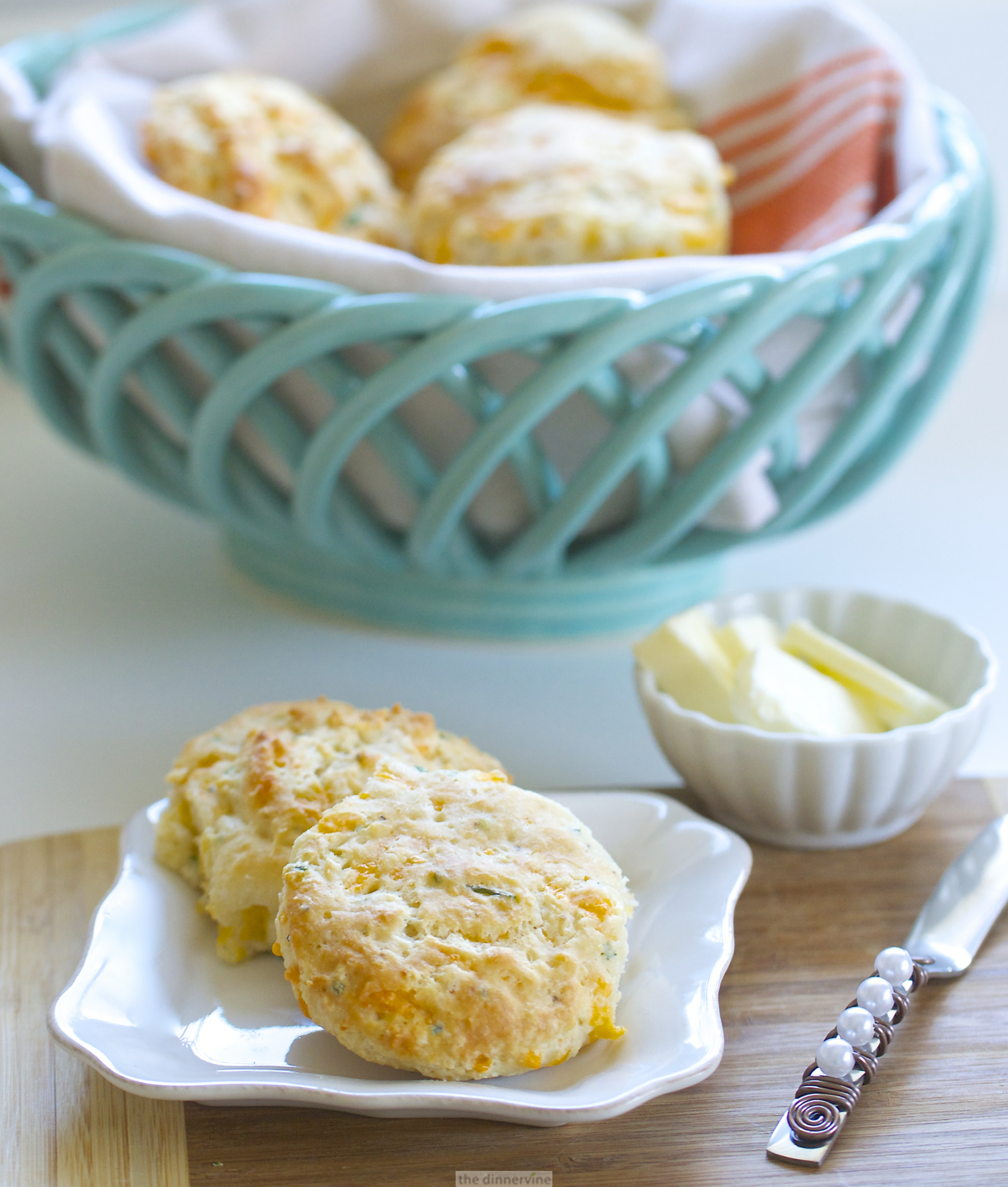 Buttermilk Biscuits With Goat Cheese And Chives Recipe — Dishmaps