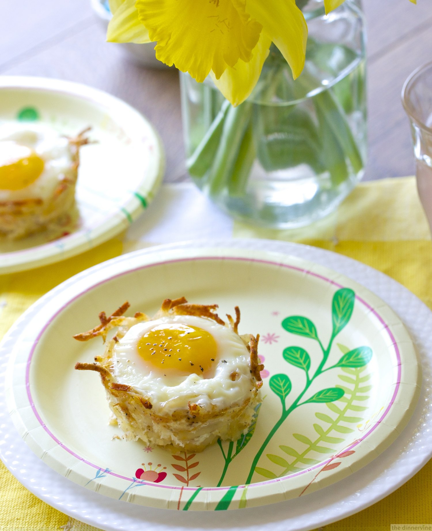 Egg & Hash Brown Nests (bacon & havarti)