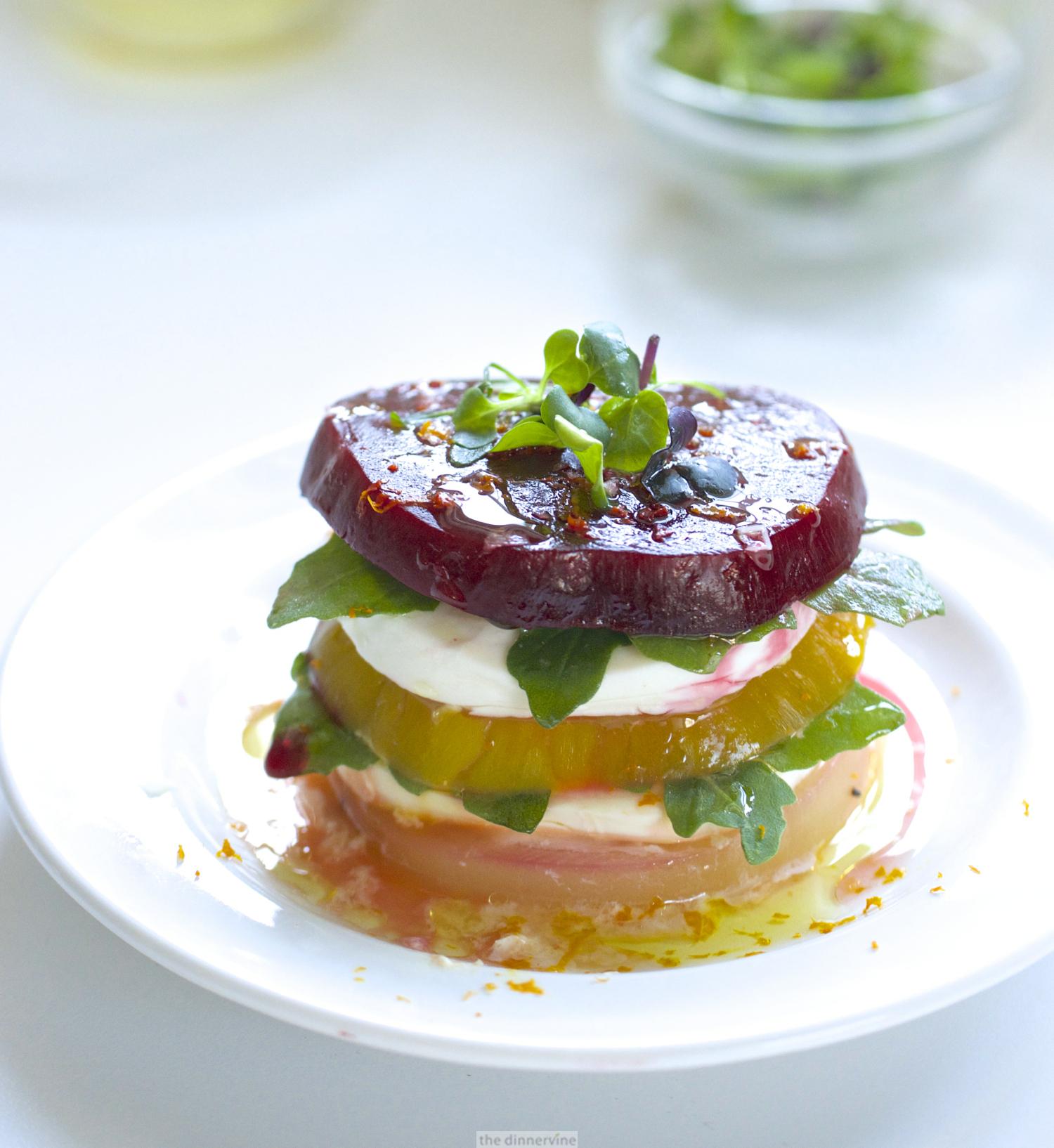 Beet Caprese Salad Stacks
